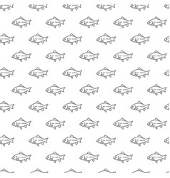 unique digital fishes seamless pattern with vector image