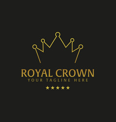 royal crown hotel logo and emblem logo vector image