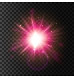Shining star light Lens flare sparkling effect vector image