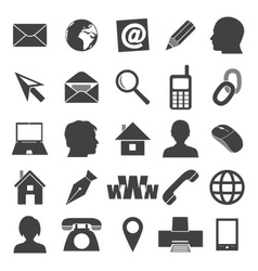 simple icons for business card and everyday use vector image