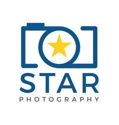 star camera logo icon template vector image vector image