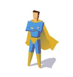 Super hero isolated minimalist design Picture vector image vector image