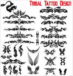 Tribal tattoo design - set vector