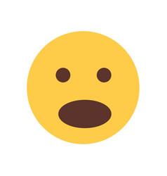 yellow cartoon face shocked emoji people emotion vector image vector image