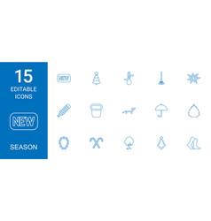 15 season icons vector