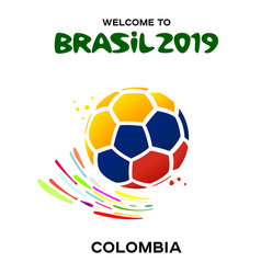 a soccer ball in the colors vector image