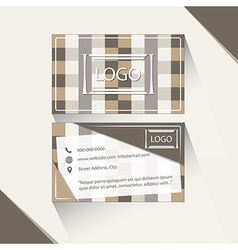 Abstract brown business card vector