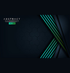 abstract modern dark background with light green vector image