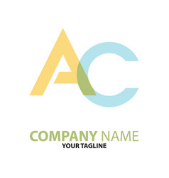 ac ca initial logo concept can be used vector image