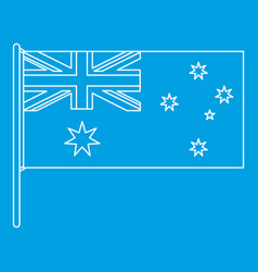 Australian flag icon outline style vector