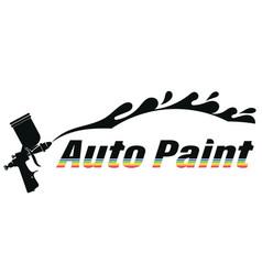 Auto spray painting symbol vector