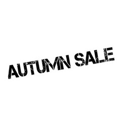 Autumn Sale rubber stamp vector image