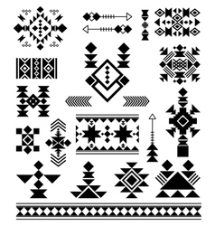 Aztec tribal ethnic elements vector