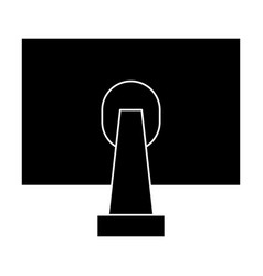 Back of monitor icon vector