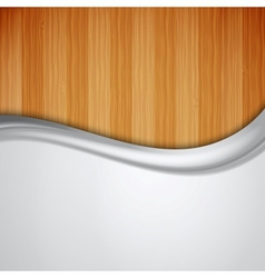 Background with wood texture vector