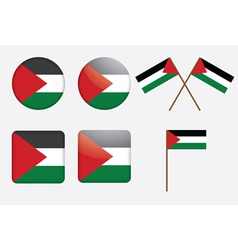 Badges with flag of palestine vector