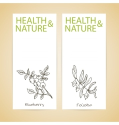 Banner Set - Health and Nature vector image