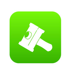 big sledgehammer icon green vector image