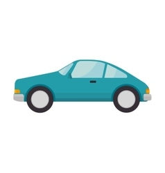 Blue car vehicle vector