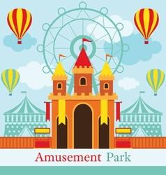 Castle Amusement Park Carnival Fun Fair vector image