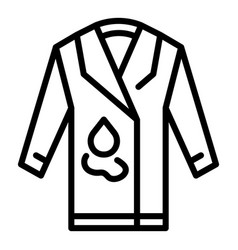 Coat repair icon outline style vector