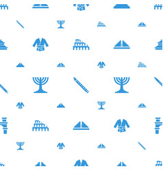 culture icons pattern seamless white background vector image
