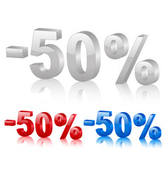discount symbol fifty percentage vector image
