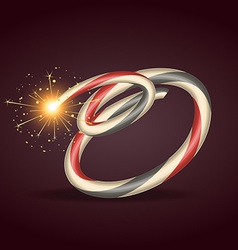 Diwali burning crackers vector