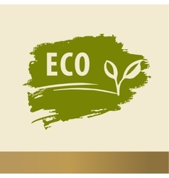 Eco logo design handdrawn template elements The vector