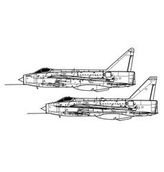 english electric lightning fmk 1 mk 3 vector image