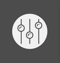 equalizer icon sign symbol vector image