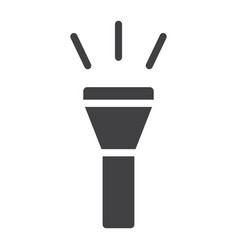 Flashlight glyph icon web and mobile torch sign vector