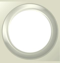Frame porthole on white background vector image
