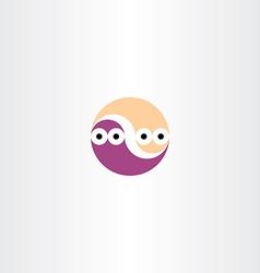 Funny worms circle icon vector
