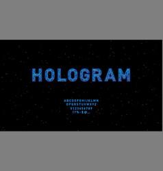 futuristic hologram hud blue font design vector image