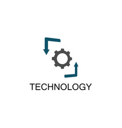 gear technology arrow logo vector image