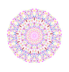 Geometrical colorful floral ornament mandala vector