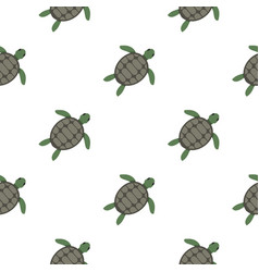 green sea turtle pattern seamless vector image
