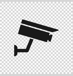 Grey security camera icon isolated on transparent vector