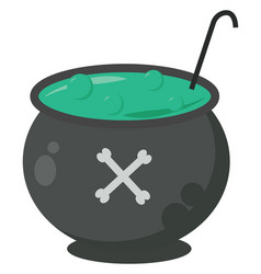 Halloween soup on white background vector