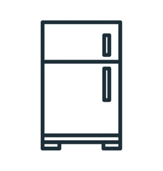 Home appliance fridge isolated flat icon vector image