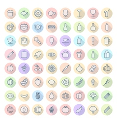 Icons For Food and Drinks vector image