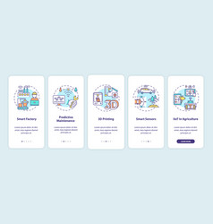 Industry 40 trends onboarding mobile app page vector