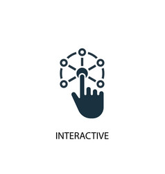 interactive icon simple element vector image