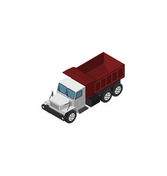 Isolated autotruck isometric freight vector