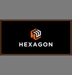 Kw hexagon logo design inspiration vector