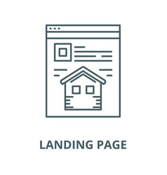 landing page line icon linear concept vector image