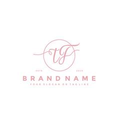 Letter tf feminine logo design vector