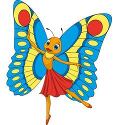 Little beautiful butterfly vector