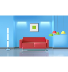 Living Room Realistic Design vector image